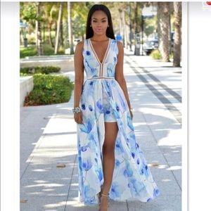Dresses & Skirts - Boutique Swim Cover Up Romper Maxi